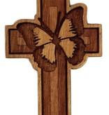 Butterfly Wood Cross w/Cord