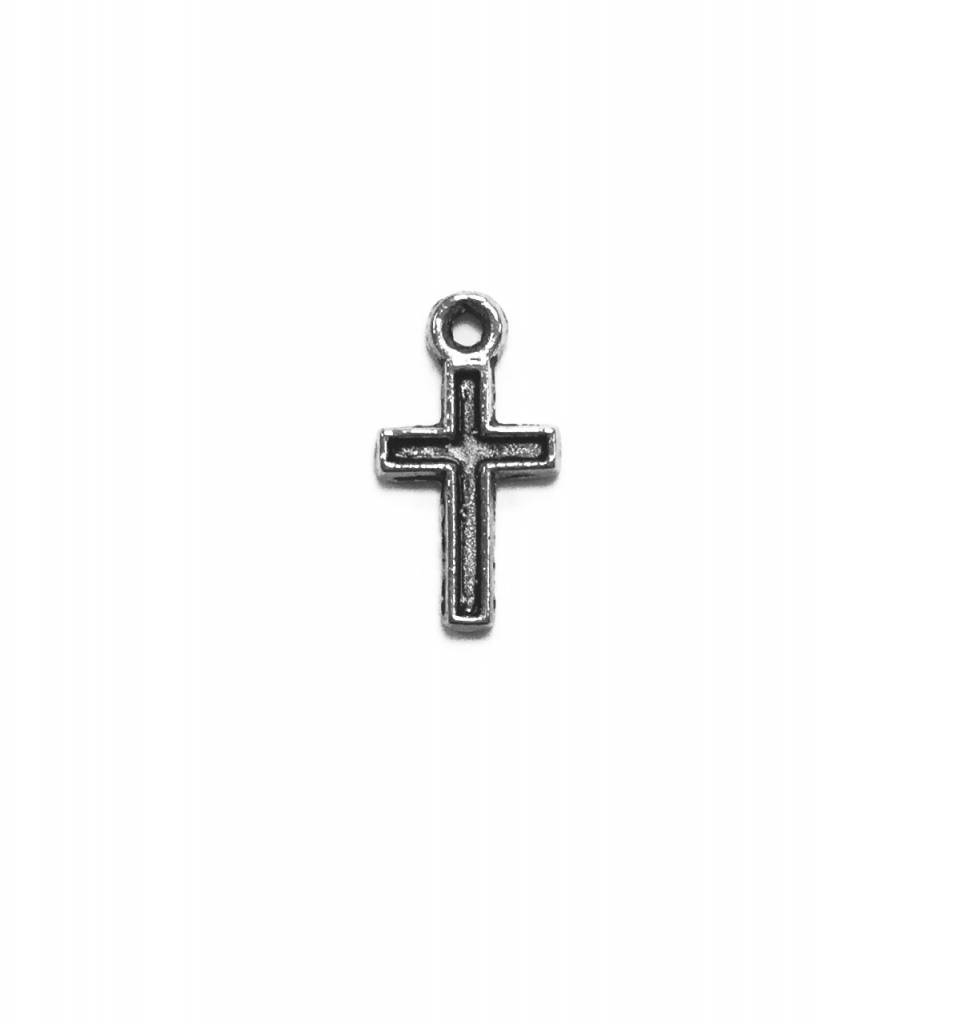 Small Cross Metal Charm