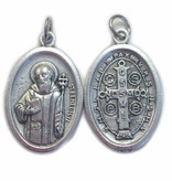 St. Benedict Oval Oxidized Medal