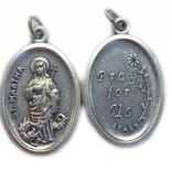 St. Martha Oxidized Medal