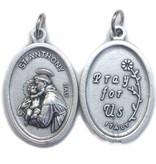 St. Anthony Oxidized Medal