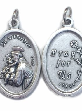 St. Anthony Oxidized Medal