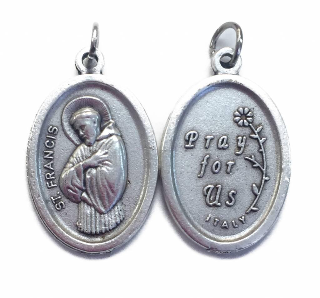 St. Francis Oxidized Medal