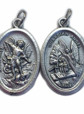 St. Michael Oxidized Medal