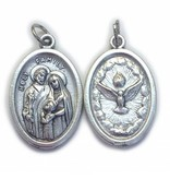 Holy Family Oxidized Medal
