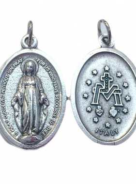 Miraculous Medal Oxidized Medal