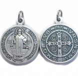 St. Benedict Small Round Oxidized Medal