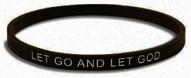 Let Go and Let God Silicone Bracelet