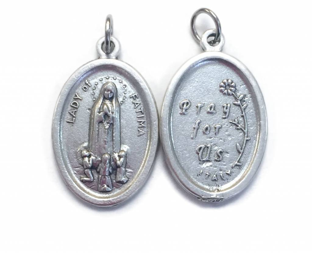 Our Lady of Fatima Oxidized Medal