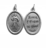 Divine Mercy English Oxidized Medal