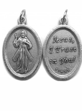 Divine Mercy English Oxidized Medal