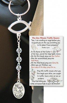St. Michael Traffic Rosary Keychain
