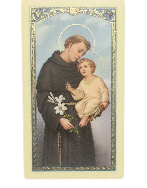 Trece Minutos a San Antonio de Padua Tarjeta de Oracion
