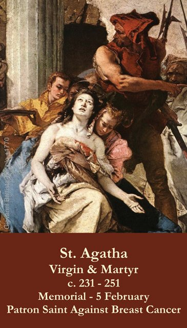 St. Agatha Prayer Card