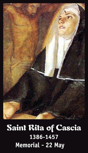 Hymn to St. Rita Prayer Card