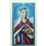 St. Elizabeth of Hungary Laminated Prayer Card