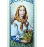 Santa Dymphna Tarjeta de Oracion