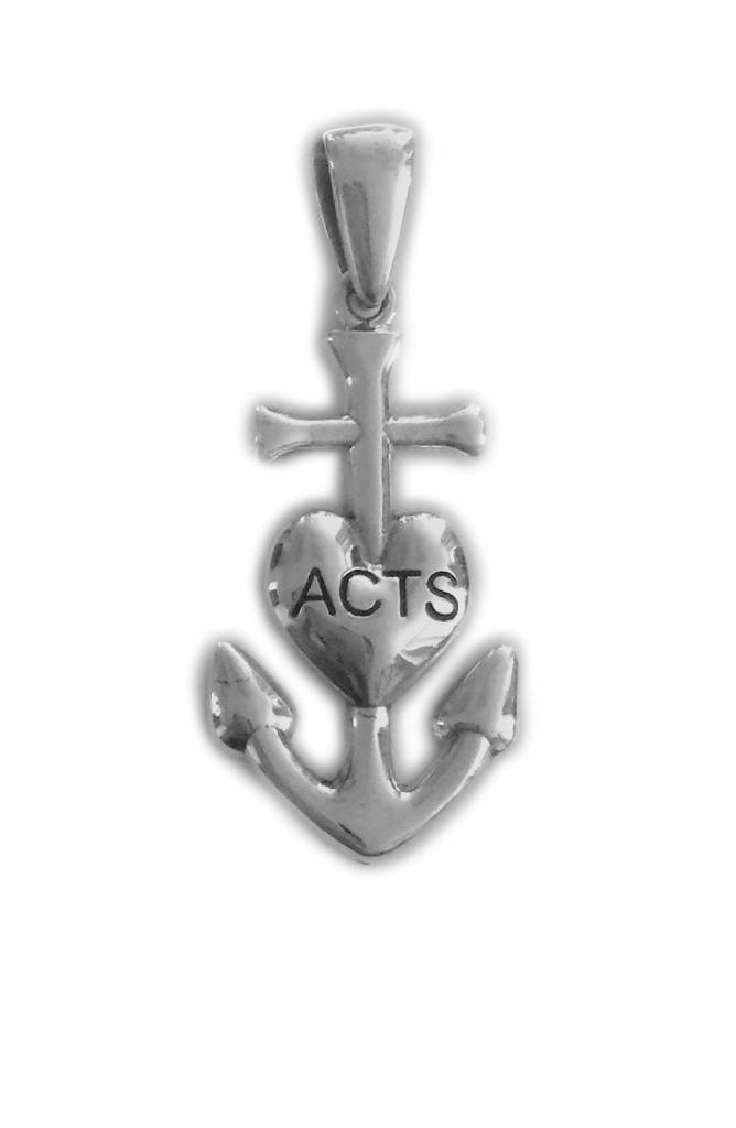ACTS Anchor w/Heart SS Pendant