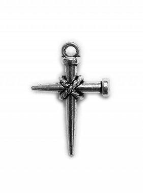 Nail Cross Metal Charm