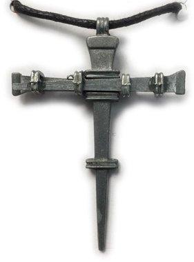 Nail Cross Pendant w/Cord