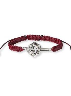 Holy Spirit Cross Corded Bracelet