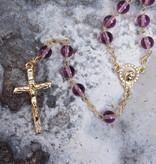 Lavender Glass Bead Rosary