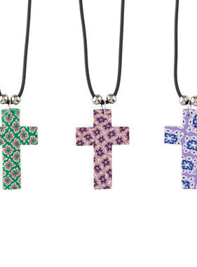 Floral Cross Pendant
