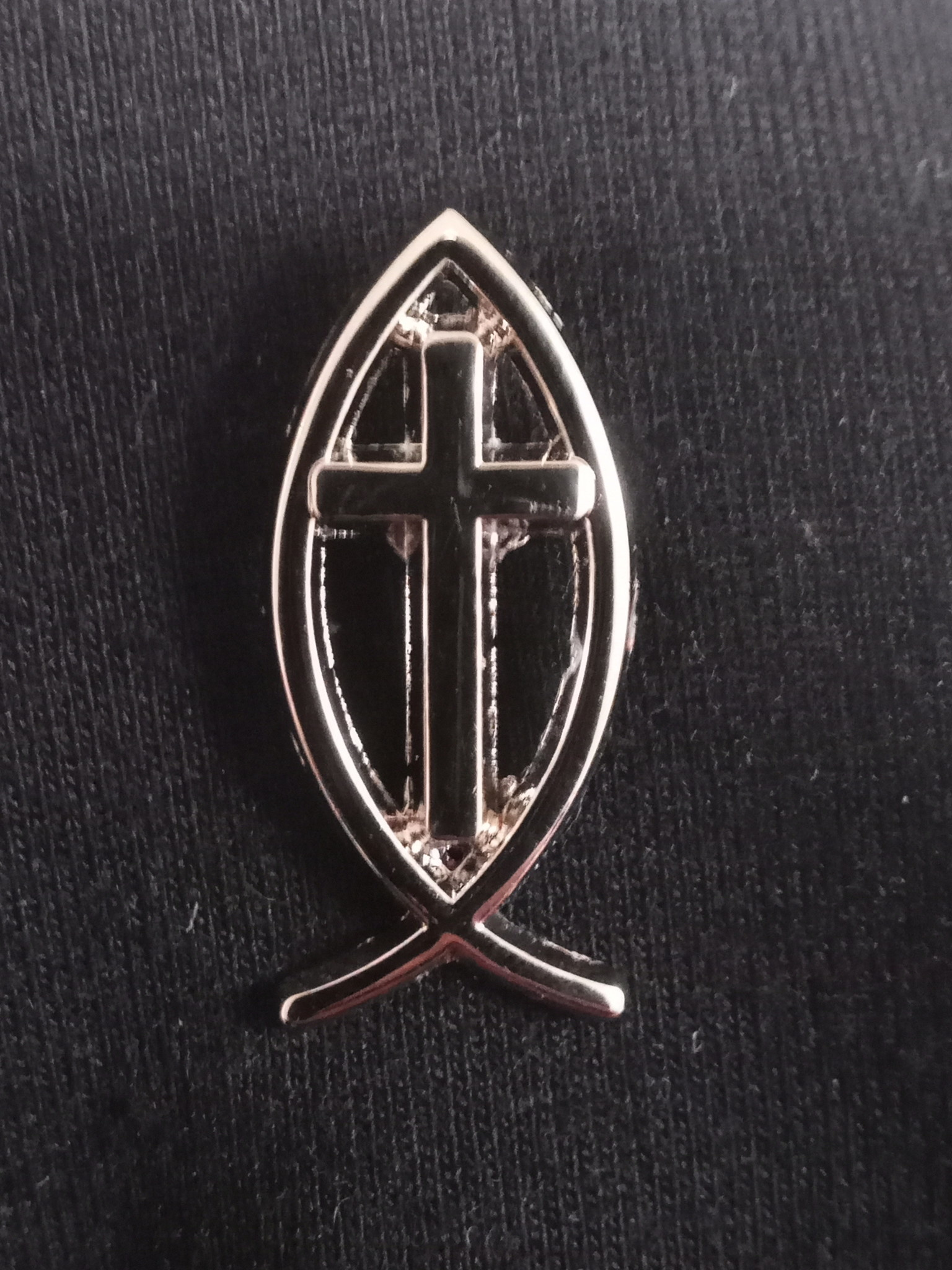 Ichthus Lapel Pin w/cross