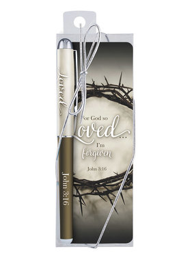 John 3:16 Bookmark w/pen gift set