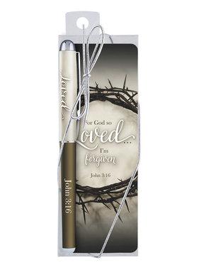 John 3:16 Bookmark w/pen gift set