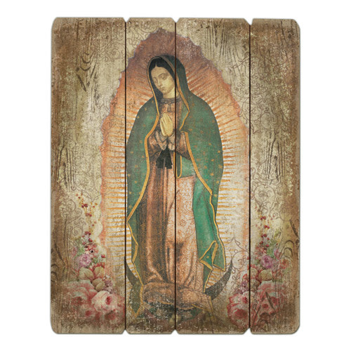 """15"""" Our Lady of Guadalupe Plaque"""