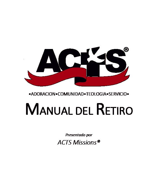 Manual Del Retiro
