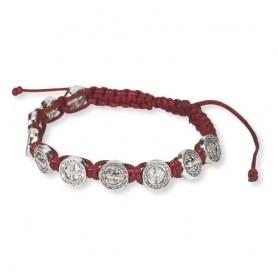 St. Benedict Red Cord Bracelet
