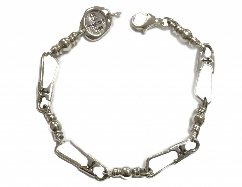 Original Link w/Crosses SS Bracelet