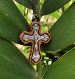 Olivewood Crucifix w/Cord
