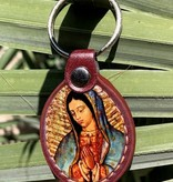 Guadalupe Leather Keychain