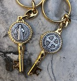 St Benedict Two-Tone Keychain
