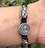 Black Corded Saints Bracelet