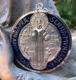 "3.5"" Enamel St Benedict Medal"