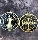 """3.5"""" Bronze St Benedict Medal"""