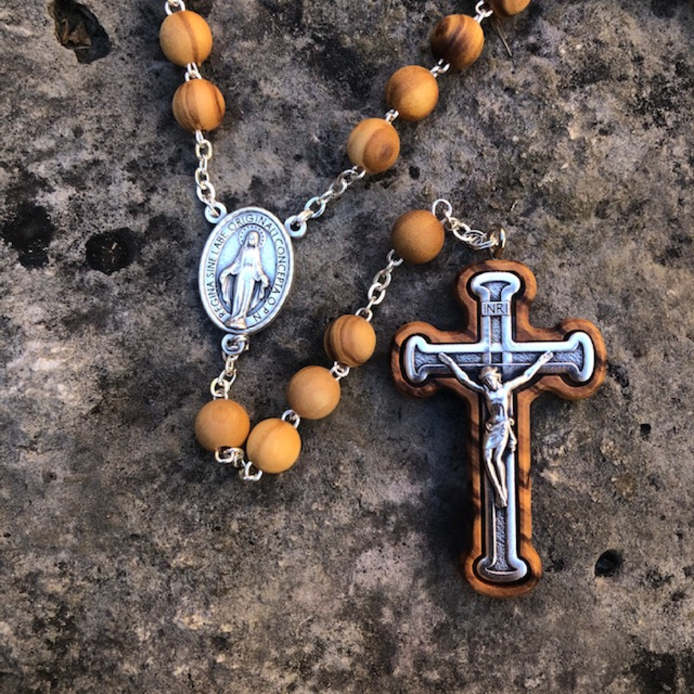 8mm Olivewood Rosary