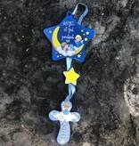 Baby Boy Crib Ornament w/cross