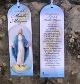 Spanish Miraculous Medal Laminated Bookmark