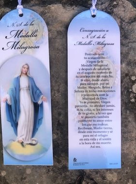 Spanish Miraculous Medal Laminated Bookmark