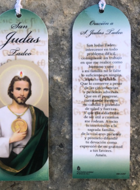 Spanish St Jude Laminated Bookmark