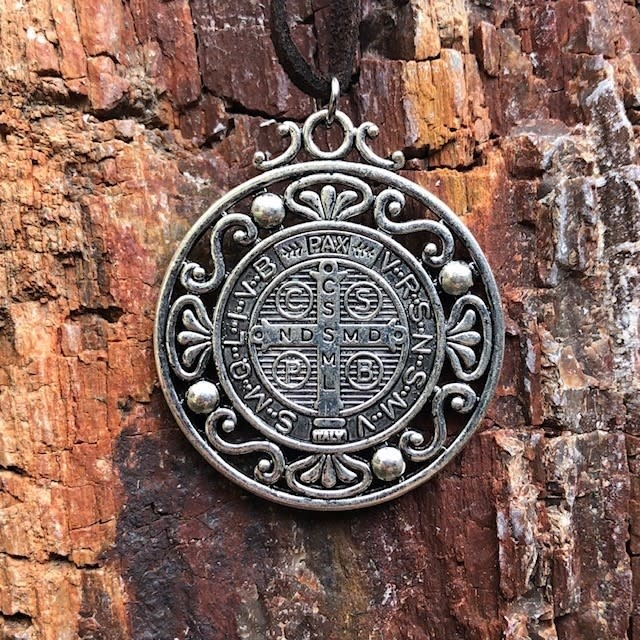 St Benedict Large Medal Pendant w/Cord