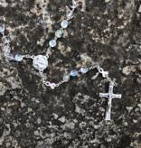 St Peregrine w/Pink Ribbon Iridescent Rosary
