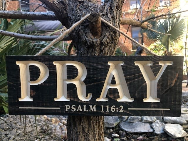 Pray Wood Wall Plaque