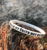 Walk by Faith not by Sight Silicone Wristband
