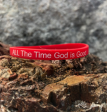 God Is Good ALL The Time Silicone Wristband